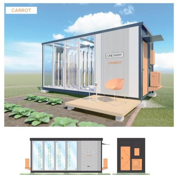 Veggie - 移動可能な小型の農業用鉄骨ハウス