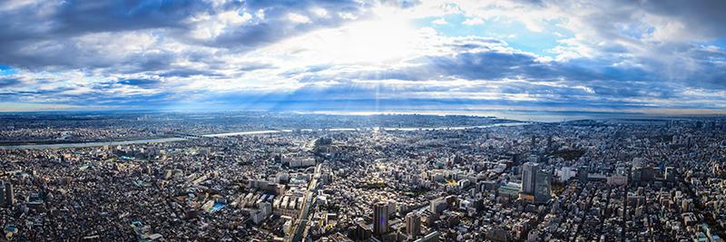 天望からの眺望(イメージ)©TOKYO-SKTYREE