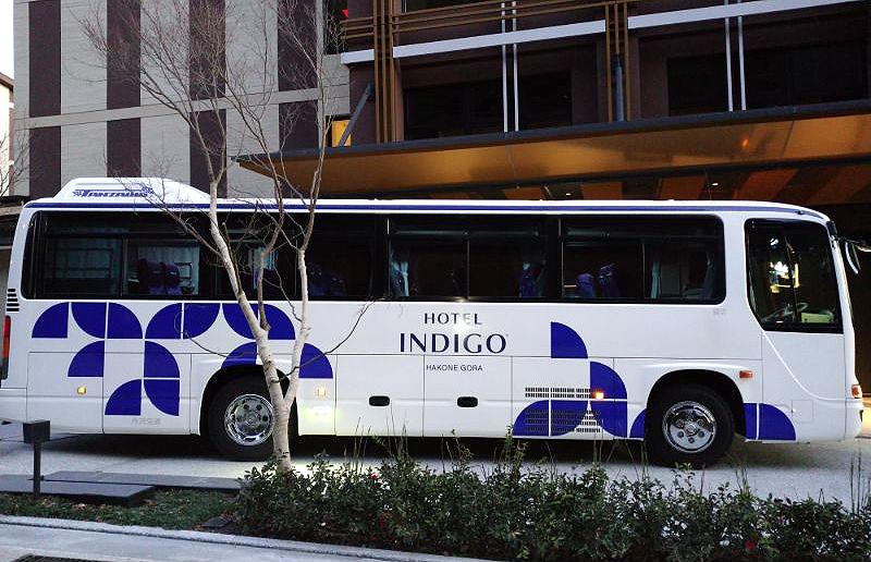 ホテルインディゴ箱根強羅の無料のシャトルバス