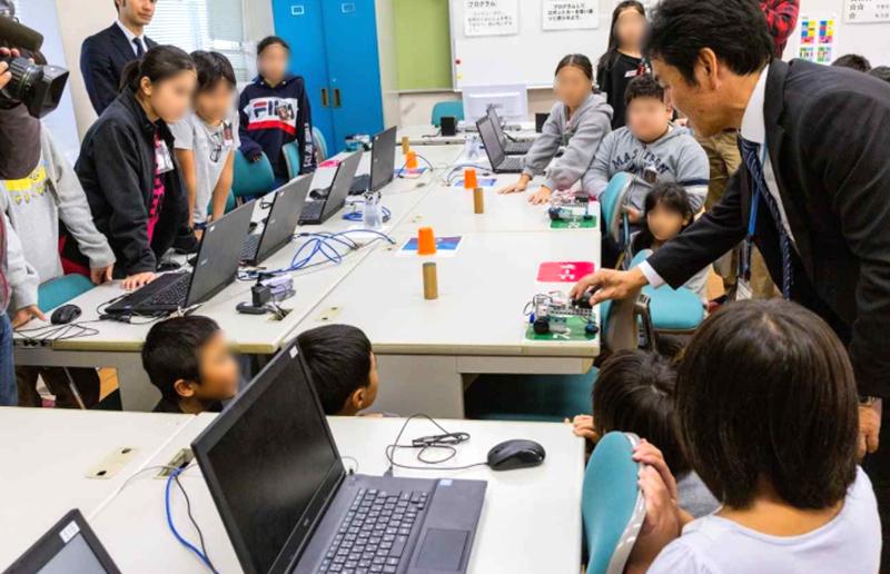 名古屋市立天白小学校での取り組みの様子