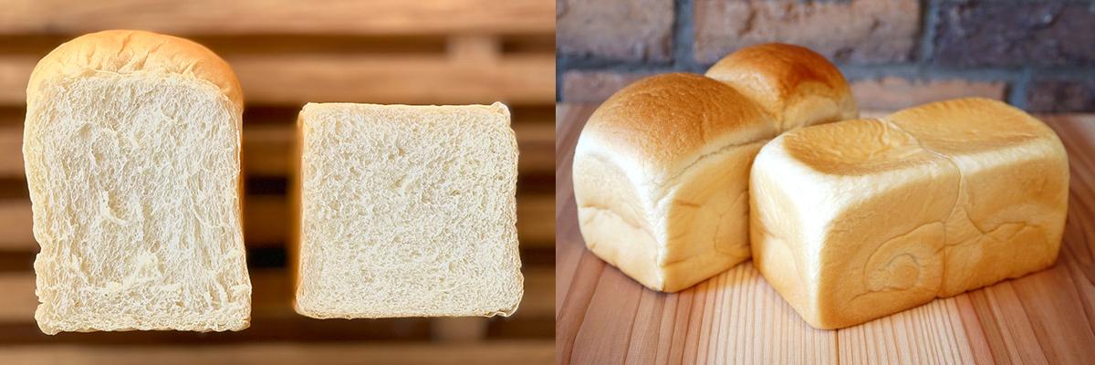 1年間の研究開発を経て、驚きの柔らかさを損なうことなく、しっとりと水分を含んだ生地(クラム)、限りなく薄く舌触りを感じさせない滑らかさの耳(クラスト)を持つ二種類の食パン「焼き食パン」「生食パン」が完成。