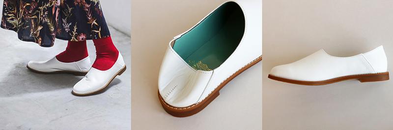 本革 靴:ブラン