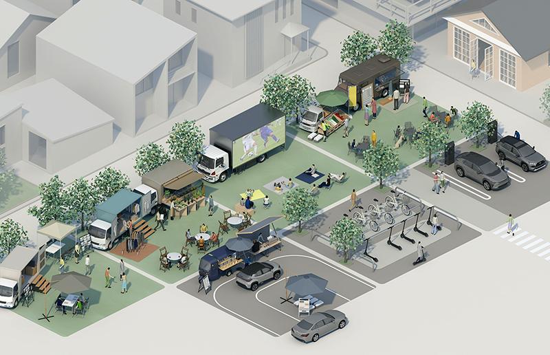 スマートシティ潮芦屋 でモビリティを活用したタウンサービスの実証実験