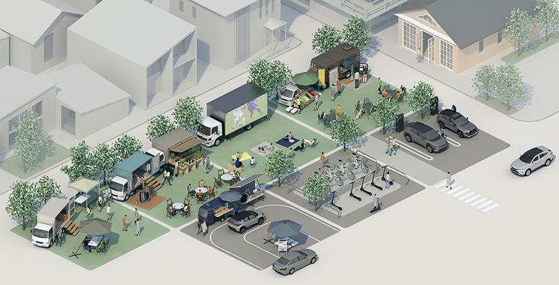 スマートシティ潮芦屋でモビリティを活用したタウンサービスの実証実験