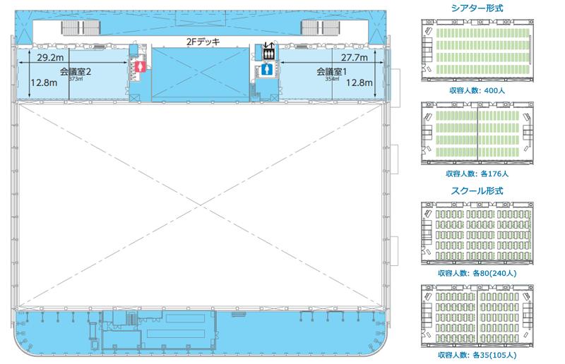 マリンメッセ福岡B館2階フロア図