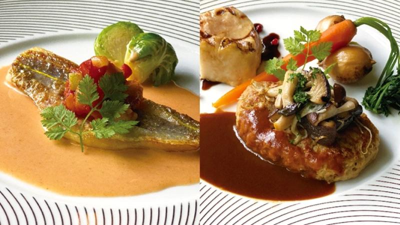 GRAND CAFE - 長崎県産イトヨリ鯛のポワレと博多和牛ハンバーグステーキ