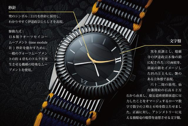 伊達政宗・甲冑腕時計:正面