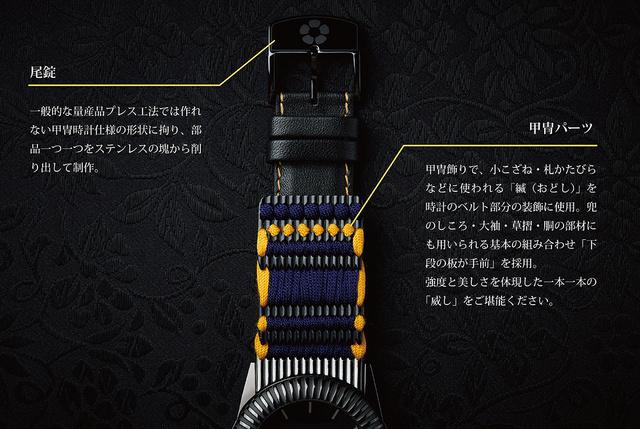 伊達政宗・甲冑腕時計:ベルト