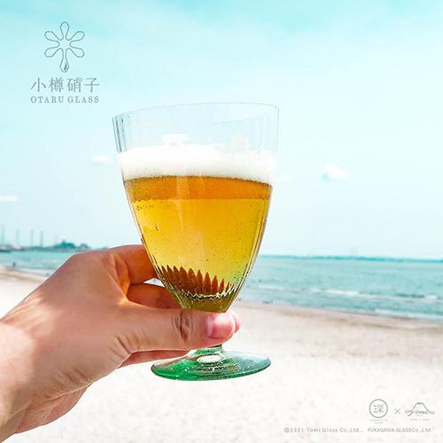ビールのグラスとして気泡もたのしめる