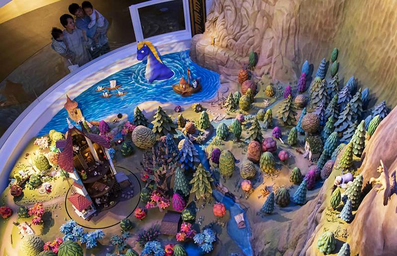 世界最大のムーミン谷のジオラマが展示