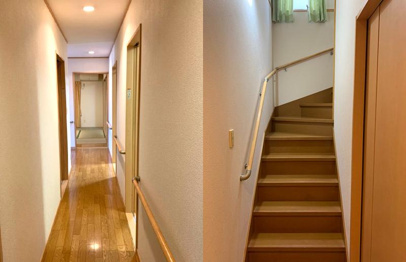 グランドわおん熊谷の廊下と階段